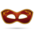 Red mask with golden braid vector image