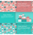 Set of banners with gift boxes vector image