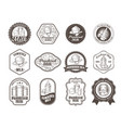 set of of badges of dry milk vector image