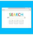 Simple browser window on blue background vector image