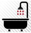 Shower Bath Icon vector image