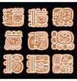 Mayan glyphs writing system and languge design vector image