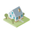 Isolated isomatic small house property set vector image
