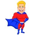 Superhero cartoon posing vector image