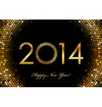 2014 Happy New Year glowing background vector image vector image