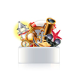 nautical objects box isolated vector image vector image