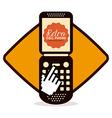 retro cellphone vector image