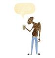 cartoon hooligan with speech bubble vector image