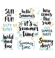 Summer Lettering Design Set - hand drawn vector image vector image