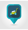 Lawn Mowers flat pin map icon garden vector image