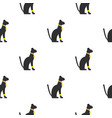 black sitting egyptian cat pattern seamless vector image