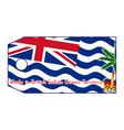 British Indian Ocean Territory flag on price tag vector image
