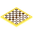 Checkerboard with checkers vector image