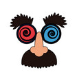 crazy googly eyes with nose and mustache toy vector image