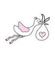 cute stork cartoon vector image