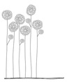 flowers doodle hand drawn vector image