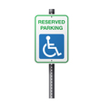 Handicap Reserved Parking Sign vector image