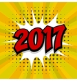 New year 2017 yellow halftone background vector image