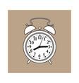 retro style analog alarm clock sketch vector image