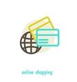shopping on net concept design over white vector image