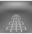 Hopscotch Game Isolated vector image