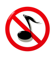 Mute sign vector image