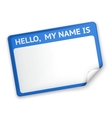 Name Tag vector image vector image