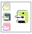 collection of in paper sticker vector image