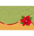 Christmas poinsettia background vector image vector image