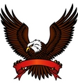 bald eagle and red emblem vector image
