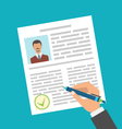 Human Resources Management Approval Resume vector image