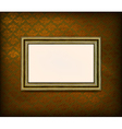 old wooden frame vector image vector image