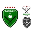 Baseball sporting emblems vector image