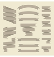Brown or gray ribbons set isolated on white vector image