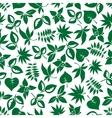 Dark green leaves retro seamless pattern vector image