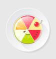 Fruit cake icon vector image