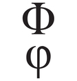 greek Symbol Phi vector image