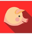 Head of pig icon in flat style vector image