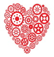 Heart from gears vector image
