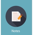 Notes Flat Concept Icon vector image
