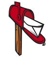 post box mailbox icon vector image