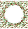 Round Christmas wreath with holly branches vector image