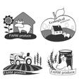 Set of farm fresh emblems badges and design vector image