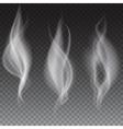 White smoke waves transparent vector image