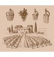 wine doodle vector image