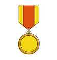winner medal isolated icon vector image