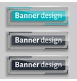 Set of realistic abstract banners with glass vector image