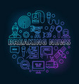 breaking news colorful ine vector image