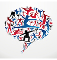 Social media Sports silhouettes vector image