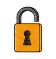 unlocked padlock accessory vector image